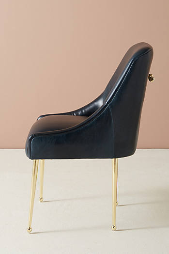 Slide View: 2: Premium Leather Elowen Chair