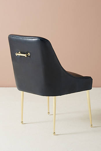 Slide View: 4: Premium Leather Elowen Chair