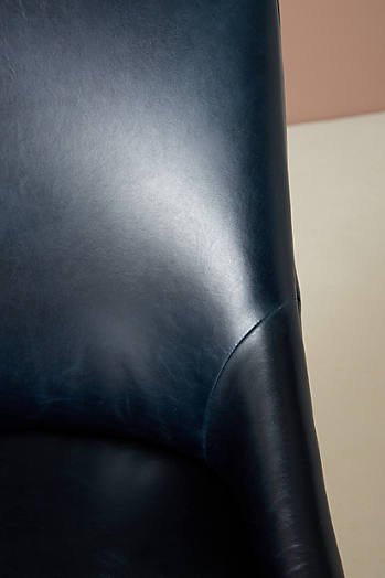Slide View: 6: Premium Leather Elowen Chair