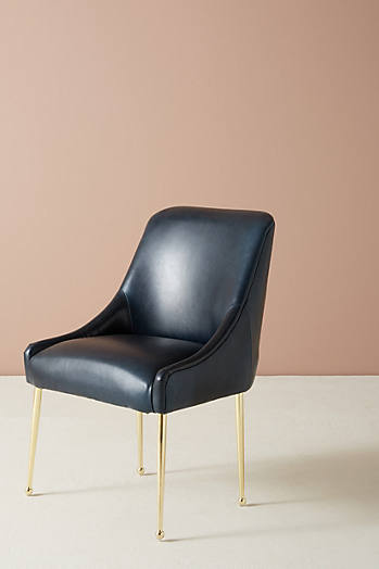 Slide View: 1: Premium Leather Elowen Chair