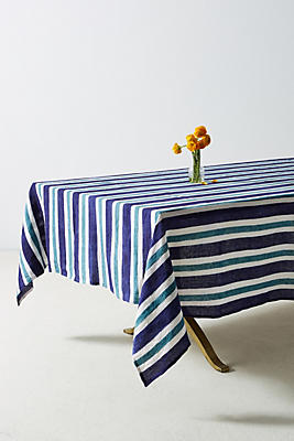 Slide View: 1: Cirque Striped Tablecloth