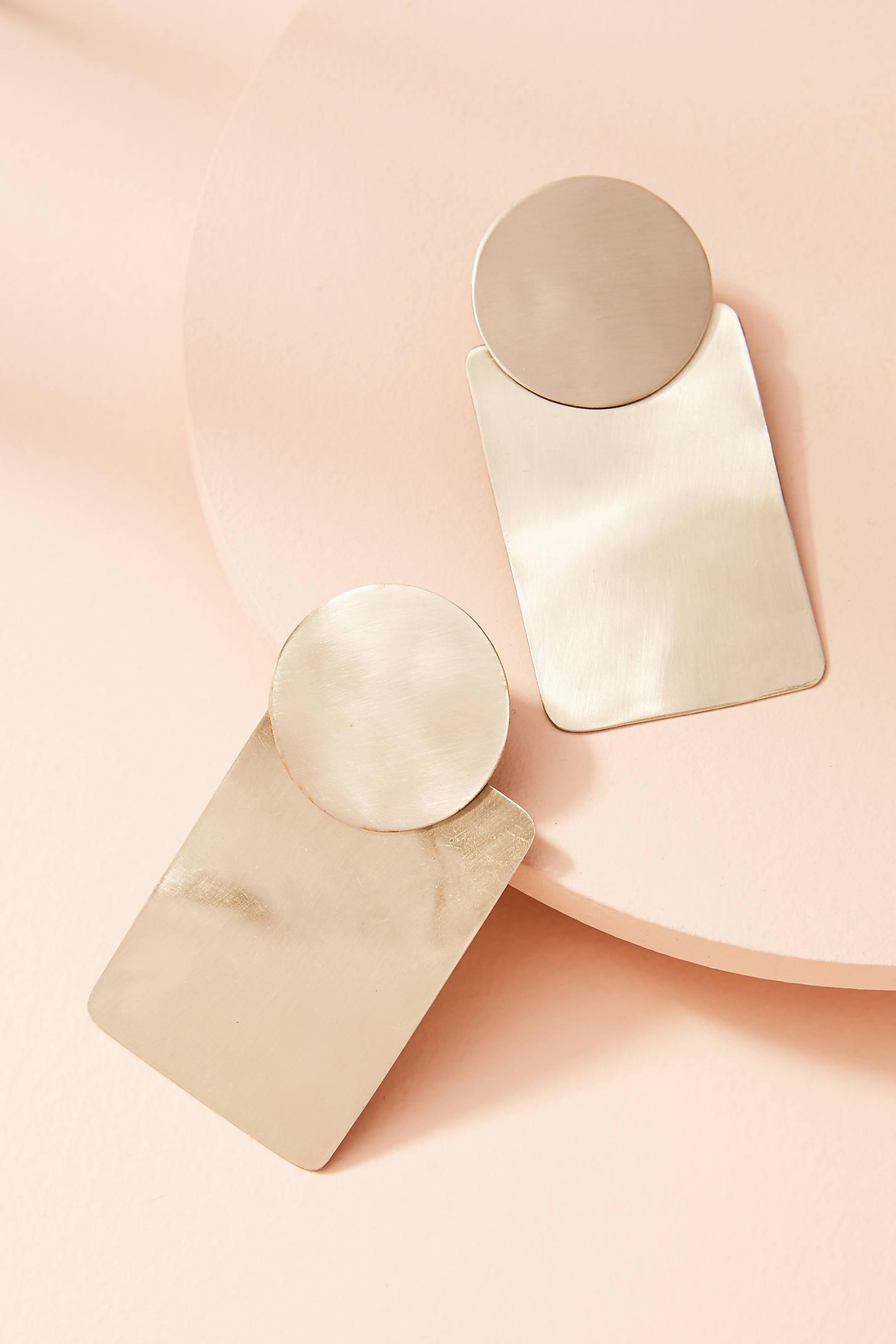 Cylinder Drop Earrings