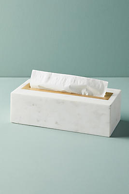 Slide View: 1: Marble Tissue Box