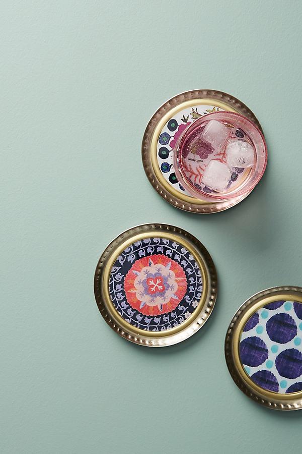 Melita Coaster - Pink, Size Coasters
