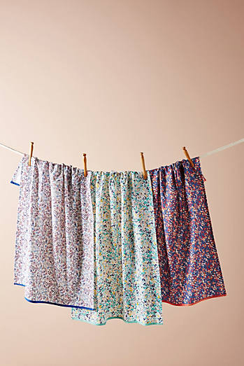 liberty for anthropologie dish towel set. beautiful ideas. Home Design Ideas