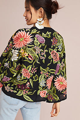 Slide View: 3: Montana Embroidered Kimono