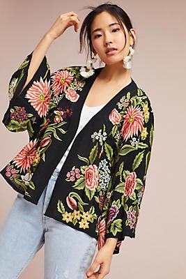 Slide View: 1: Montana Embroidered Kimono