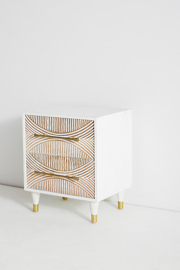 Slide View: 3: Carved Thalia Nightstand