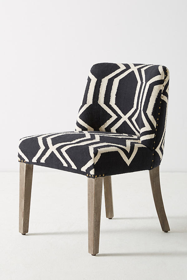 Jorie Dining Chair - Black & White