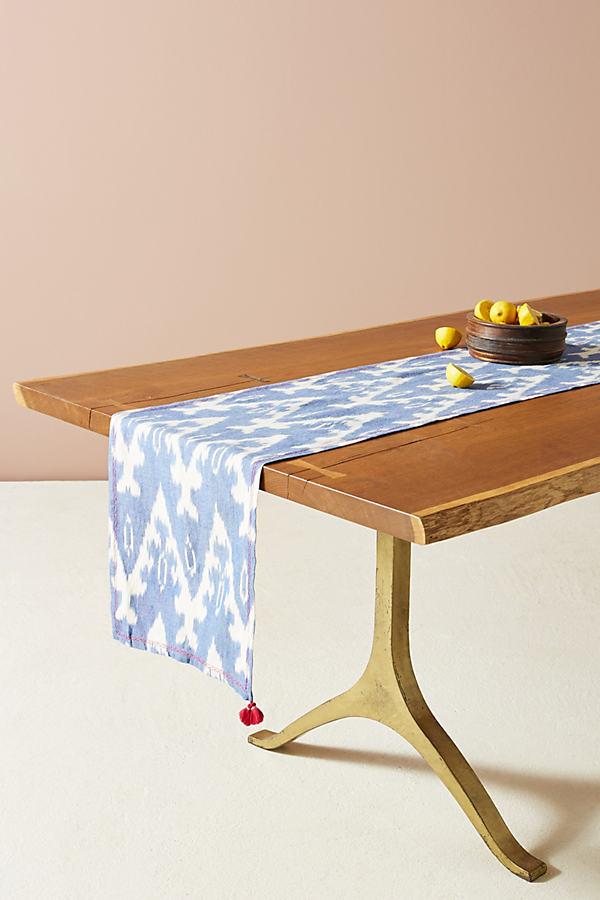 Ikat Table Napkin - Blue, Size Napkin