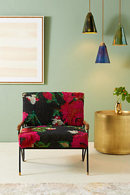 Slide View: 1: Silk Rug Accent Chair