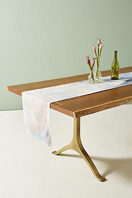 Slide View: 1: Dyed Indigo Table Runner