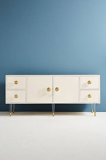 Slide View: 2: Lacquered Regency Buffet