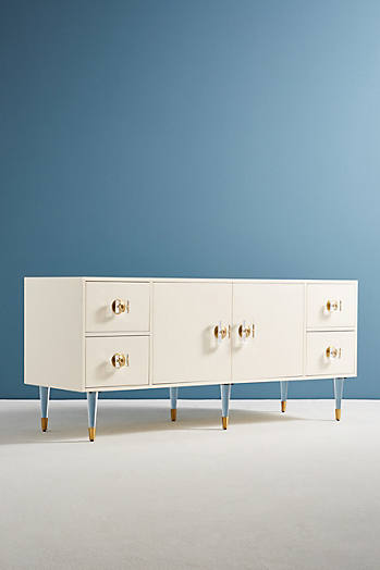 Slide View: 3: Lacquered Regency Buffet