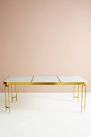 Slide View: 2: Brass Parabola Dining Table