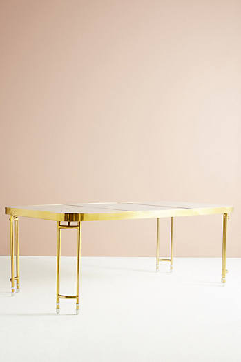 Slide View: 3: Brass Parabola Dining Table