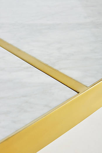 Slide View: 5: Brass Parabola Dining Table