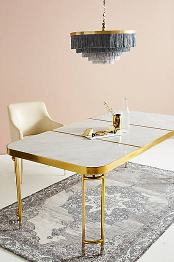 Slide View: 1: Brass Parabola Dining Table