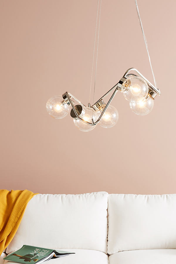 Abstract Globe Chandelier - Grey