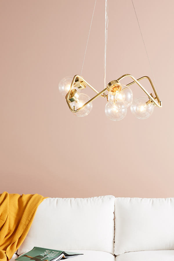 Abstract Globe Chandelier - Gold