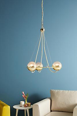 Slide View: 1: Metallic Globes Chandelier