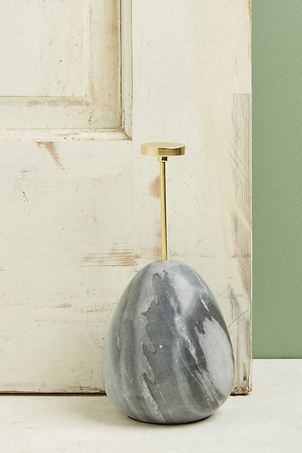 Marble Egg Doorstop - Grey