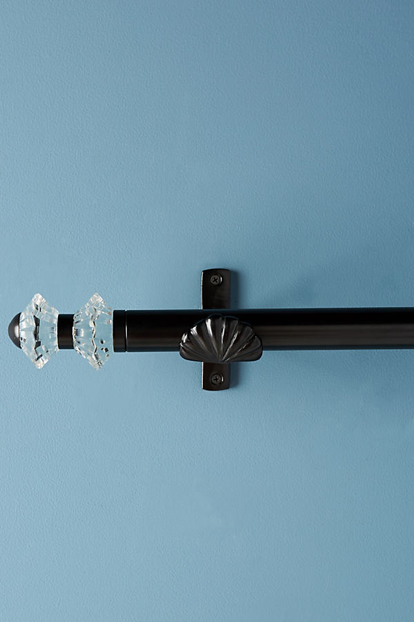 Olivia Curtain Rod Set - Black, Size S