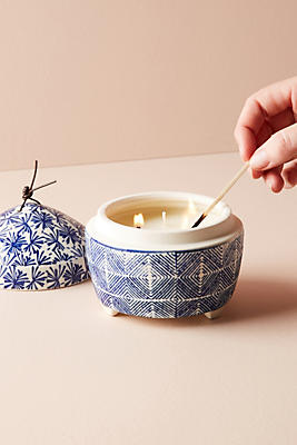 Slide View: 2: Block-Printed Candle