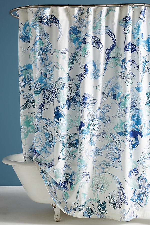 Hariette Shower Curtain - Blue