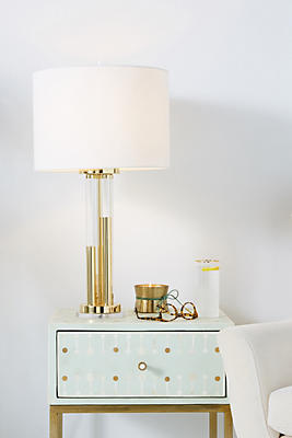 Slide View: 1: Bettany Lucite Lamp Emsemble