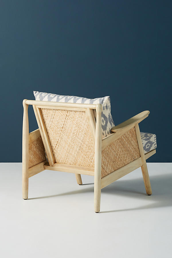 Slide View: 5: Ikat-Printed Cane Chair