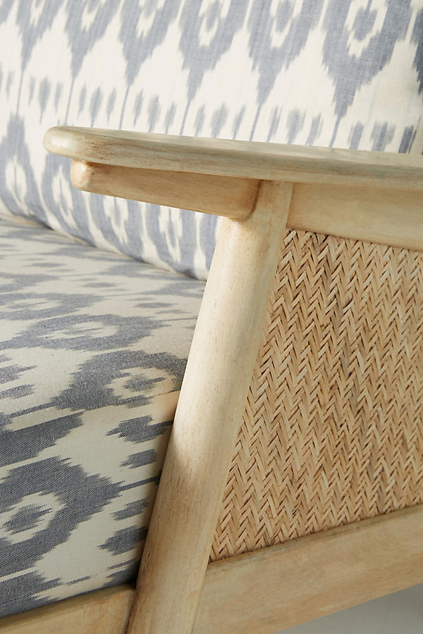 Slide View: 6: Ikat-Printed Cane Chair