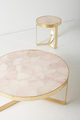 pink quartz lirit coffee table | anthropologie