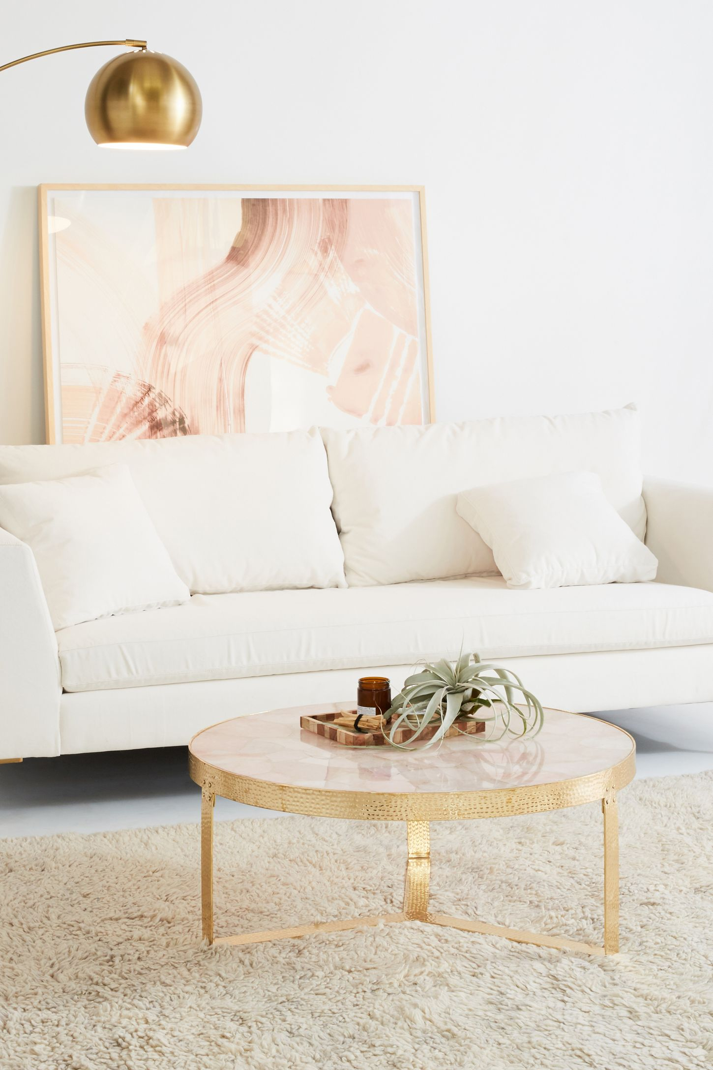 pink quartz lirit coffee table anthropologie