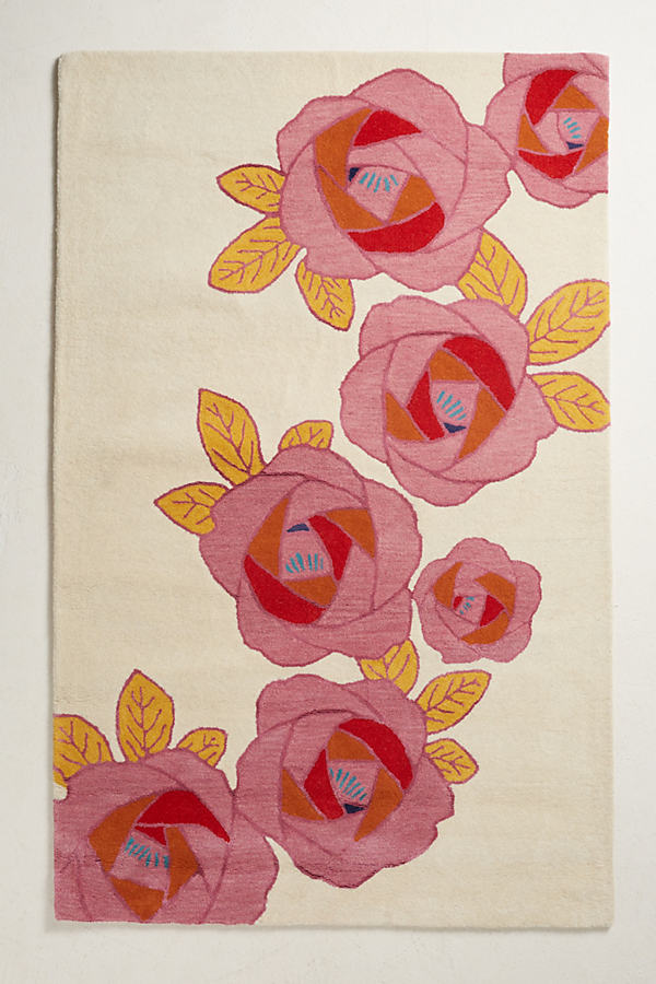In Bloom Rug Swatch - Pink, Size Swatch