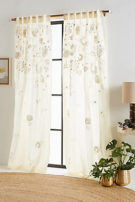 Slide View: 1: Embroidered Benet Curtain