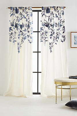 Slide View: 1: Embroidered Isa Curtain