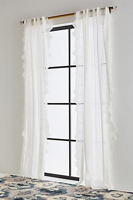 Slide View: 1: Embroidered Jivira Curtain
