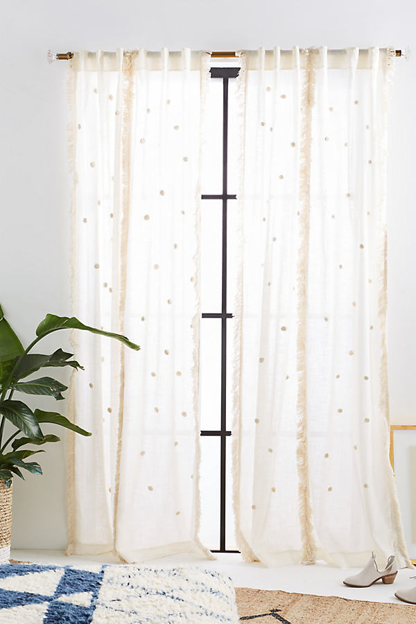 Embroidered Arya Curtain - Neutral, Size 50 X 84