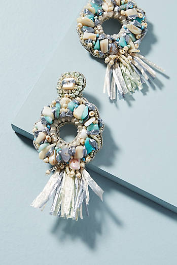 Oceana Fringed Drop Earrings