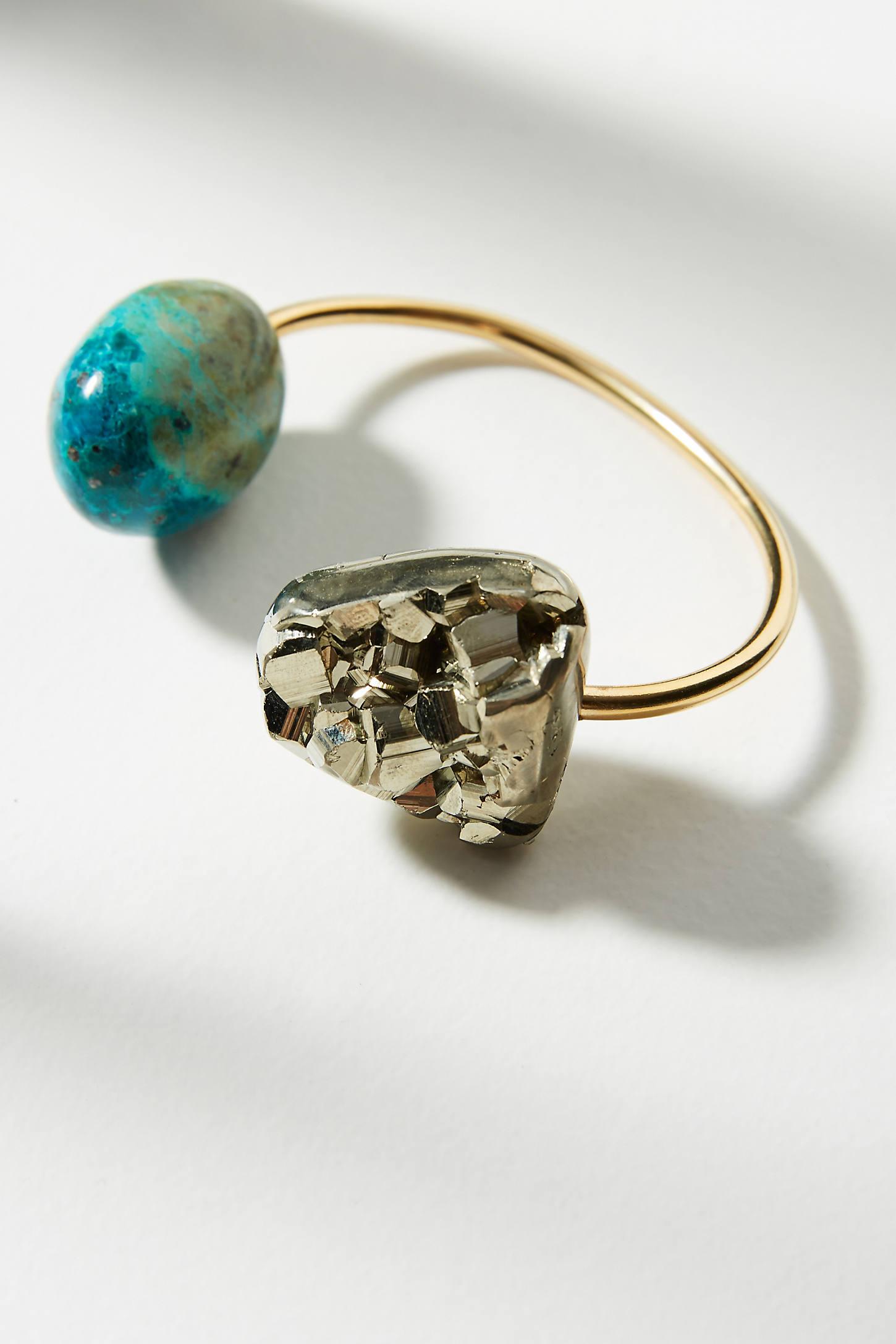 Dual Stone Cuff Bracelet