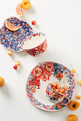 Slide View: 2: Liberty for Anthropologie Wiltshire Garden Dinner Plate