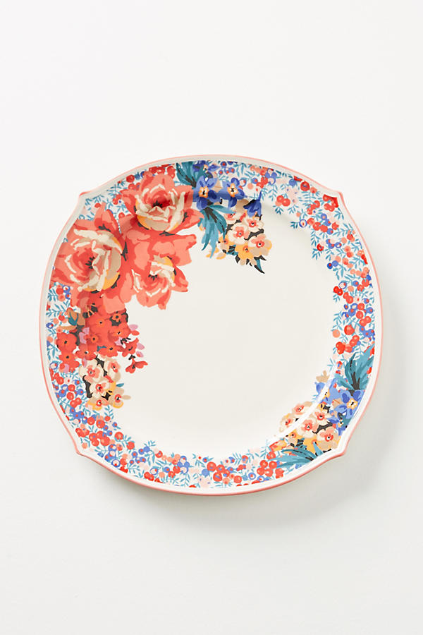 Slide View: 1: Liberty for Anthropologie Wiltshire Garden Dinner Plate