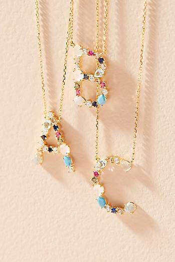 Monogram Gem Necklace