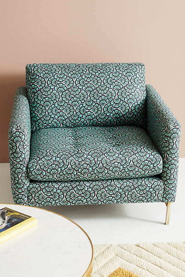 Liberty for Anthropologie Feather Fan Angelina Chair - Kelly