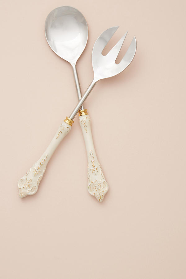 Slide View: 1: Goldenrod Serving Set