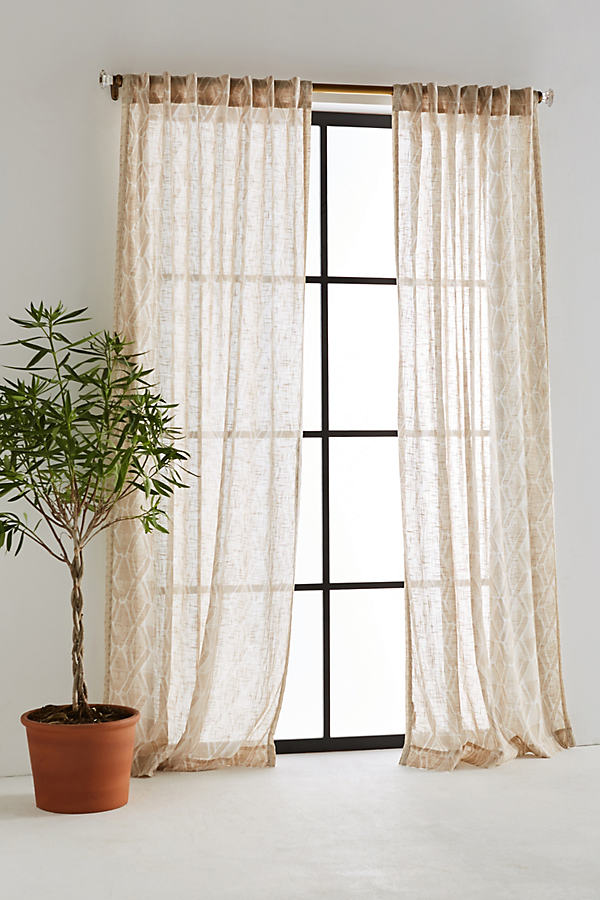 Jolene Curtain - Sand, Size 50 X 108