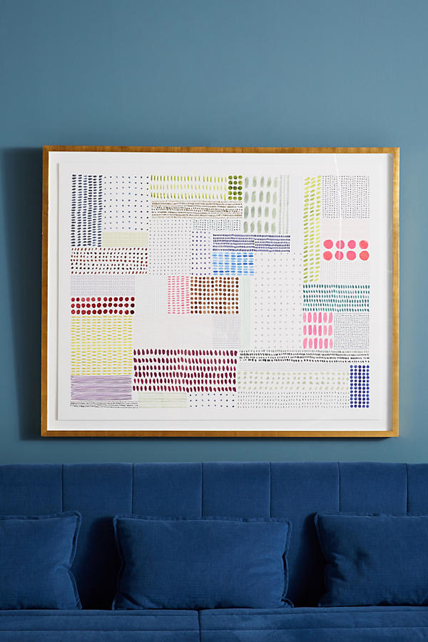 Slide View: 1: Colorblock Quilt Wall Art