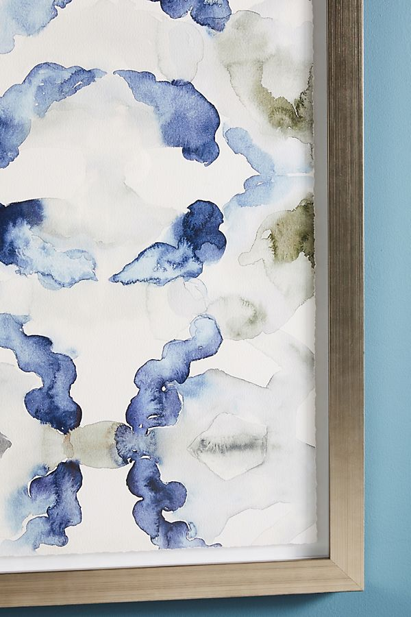 Watercolor Ikat Wall Art | Anthropologie