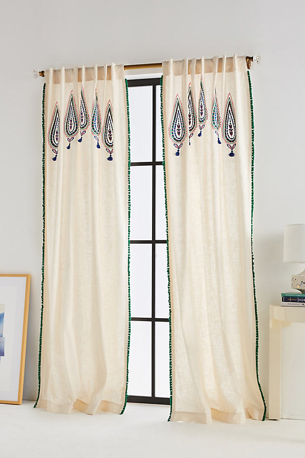Beaded Julie Curtain - Cream, Size 50 X 84
